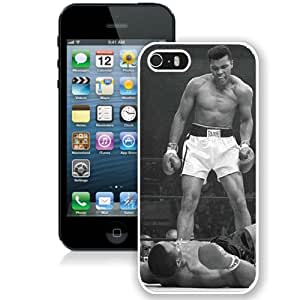 Hot Sale And Popular iPhone 5 5S Case Designed With Muhammad Ali Vs Sonny Liston White iPhone 5 5S Phone Case