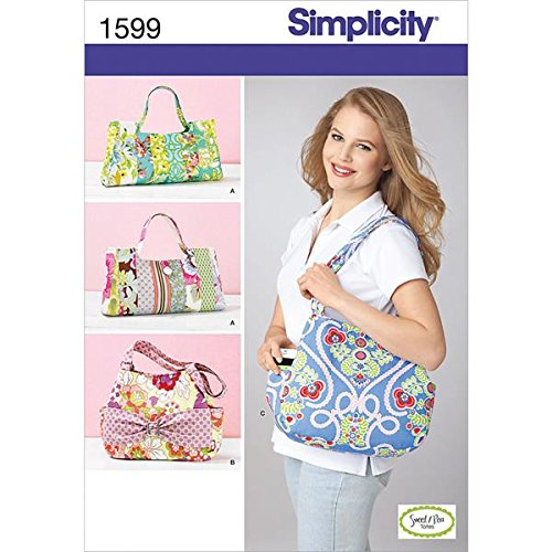 (Simplicity Sweet Pea Totes Pattern 1599 Four Unique Handbags and Totes)