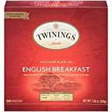 Twinings of London English Breakfast Black Tea Bags, 100 Count