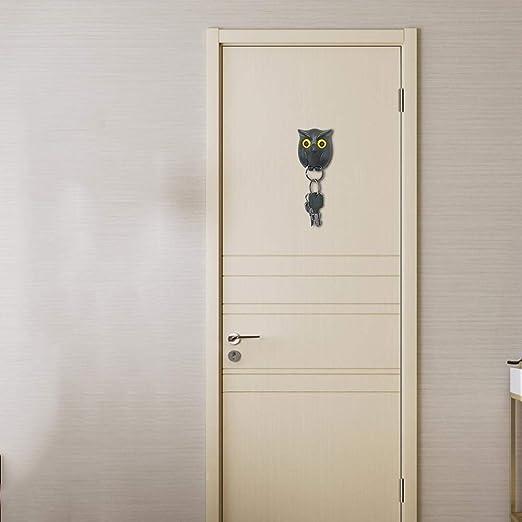 Portachiavi WEIHUIMEI Gufo Notturno Decorazione da Parete insolita Decorazione di casa e Ufficio. Motivo