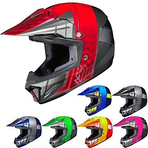 HJC CL-XY II Cross-Up MC-2H - Casco de motociclismo para jóvenes, azul/neón, Mediano