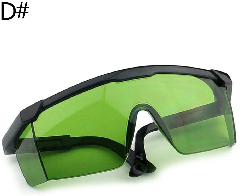 Gafas de protección láser (400 NM, 540 NM), Color Morado y Azul, Verde