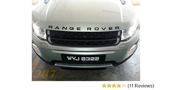 Amazon Com Matte Black Range Rover Badge Decal Emblem Car