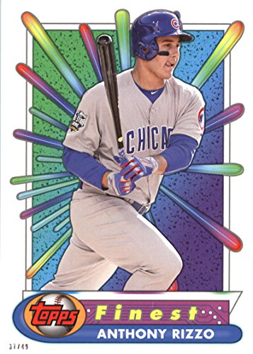 RARE 2017 Topps Finest Baseball Card 5x7 '94-'95 Finest Recreates #BR-AR Anthony Rizzo Serial #/49 ()