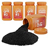 Dan&Darci Rock Tumbler Grit Refill Kit - 3.5 Pounds Grits Media + Poly Plastic Pellets - Rock Polishing Media - Polish for Any Brand Tumbler - Rock Tumbling Supplies - Stone Polisher