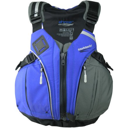 Stohlquist Drifter Personal Floatation Device, Charcoal/Royal Blue, Small/Medium, Outdoor Stuffs