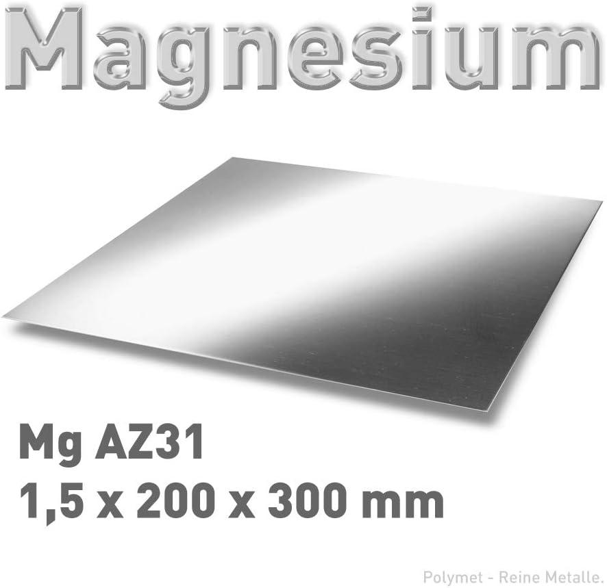 Magnesium-Blech 1,5 x 200 x 300 mm 20 x 30 cm Platte Magnesiumplatte