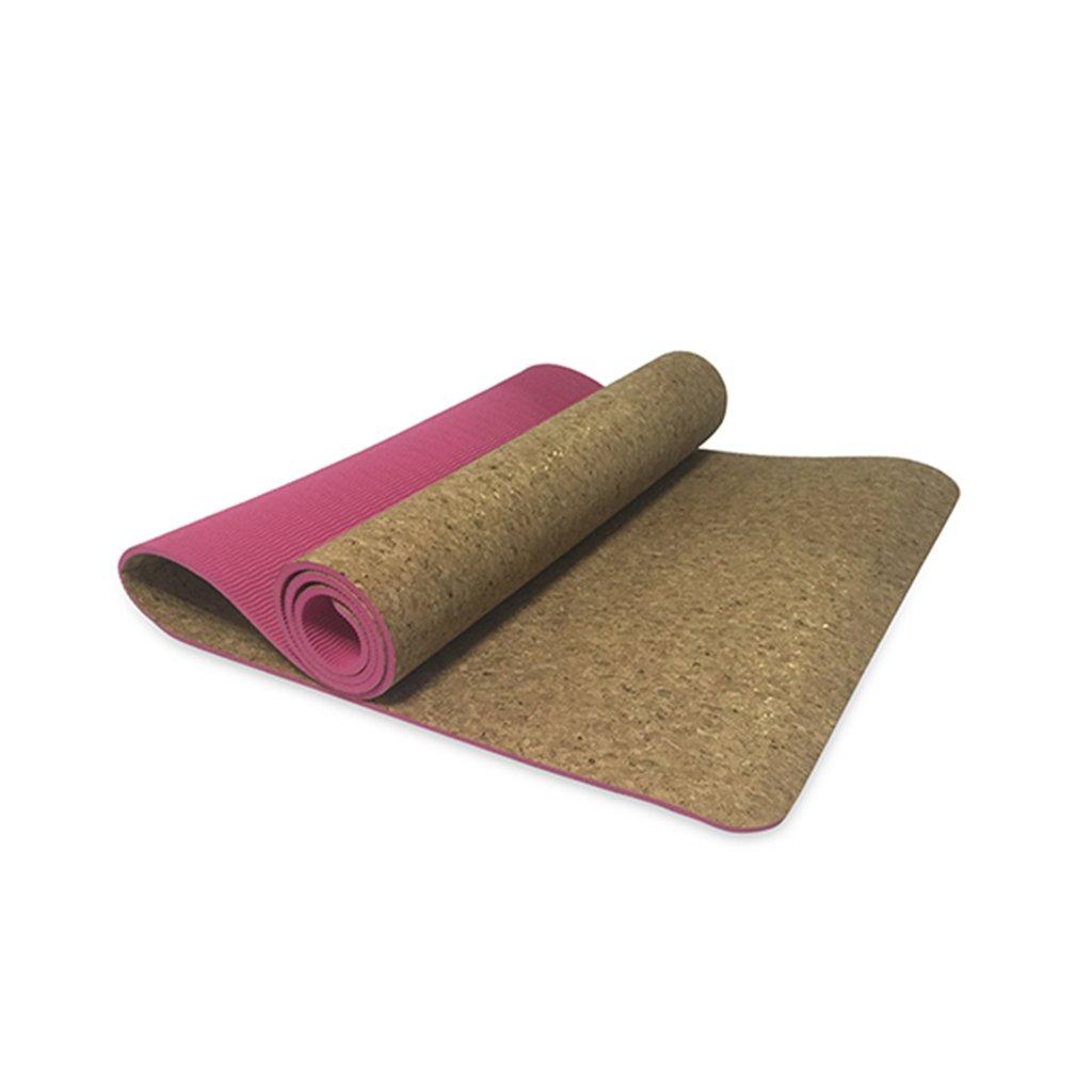 YJD Kork-Yoga-Matten, Yogamatte-Länge 1730  Breite 610  Stärke 6mm Pilates-Übungsmatte Eignung-Matte Doppelte Anti-Rutschmatte GHJ
