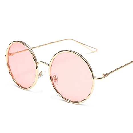 56c0df41285 Image Unavailable. Image not available for. Color  GMYANTYJ Sunglasses New  elegant sunglasses 2018 round face Korean retro net red ladies ...