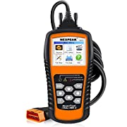 "#LightningDeal NEXPEAK OBD2 Scanner Orange-Black Color Display with Battery Test Function, 2.8"" Car Diagnostic Scan Tool Vehicle Check Engine Light Analyzer"