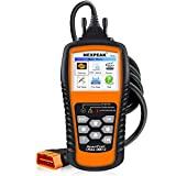 NEXPEAK OBD2 Scanner Orange-Black Color Display with Battery Test Function, 2.8' Car Diagnostic Scan Tool Vehicle Check Engine Light Analyzer