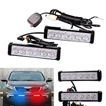 2PCS 36W LED Red Blue Warning Emergency Beacon Strobe Flash Light Bar Car Truck