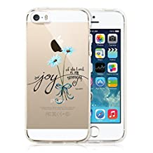 iPhone SE Case,Bible Sayings Joy of the Lord is My Strength Clear Soft TPU Shock-Proof Protective Case