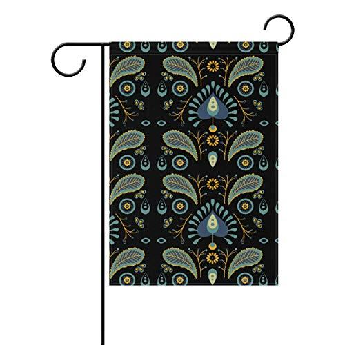 Nydia Elegant Pattern Retro Batik Decorative Garden Flag 28 X 40 Inch Polyester for Home Garden Decor