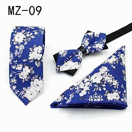 WUNDEPYTIE Corbata de algodón Vestido de Negocios Patrón inglés ...