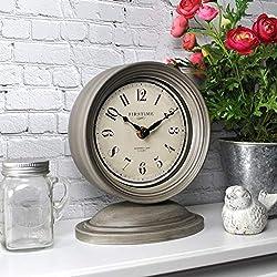 FirsTime & Co. Graham Tabletop Clock, 7.5 x 6.5, Dark Gray