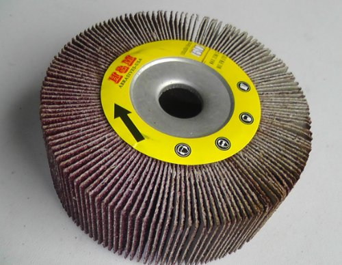 "Premium FLAP WHEEL 4"" x 1-1/2"" with 5/8"" Bore Unmounted 80 grit Abrasive Grinding tool"