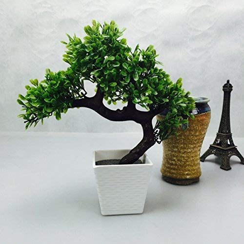 Party Tonight Artificial Japanese Zen Bonsai Tree Home Planet with Pot. Perfect for a Desk, Table, Office, Home Or Shelf Decoration