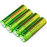 18650 Battery, 3.7V 5000mAh Li-ion Button Top Rechargeable Batteries,18650 Battery for Flashlight Headlamp, Size:18x65mm