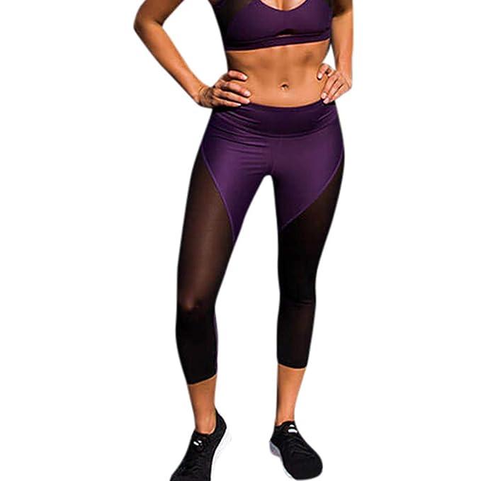 35c64bf18bfb Pantaloni Yoga da Donna❤Hanomes,Transparente da Chiffon del Pantaloni da  Yoga Leggins Sportivi