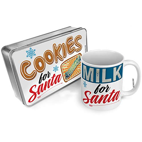 NEONBLOND Cookies and Milk for Santa Set Greetings