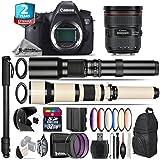 Canon EOS 6D DSLR Camera + Canon EF 24-70mm 2.8L II USM Lens + 650-1300mm Telephoto Lens + 500mm Telephoto Lens + 6PC Graduated Color Filer Set + 2yr Extended Warranty + 32GB - International Version