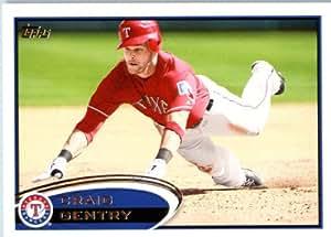2012 Topps Baseball # 347Craig Gentry Texas Rangers MLB Trading Card