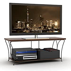 atlantic nuvo 43 tv stand corner flat screen plasma televsion stands media. Black Bedroom Furniture Sets. Home Design Ideas