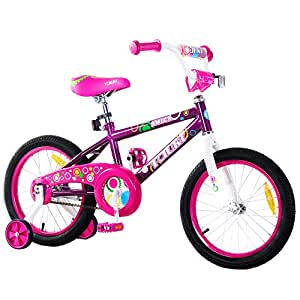 Tauki Kids BMX Freestyle Bike for Boys and Girls, 16 Inch Kids Bicycle with Training Wheels for 4 5 6 7 8 Years Old, 95% Assembled, Gift for Kids, Pink