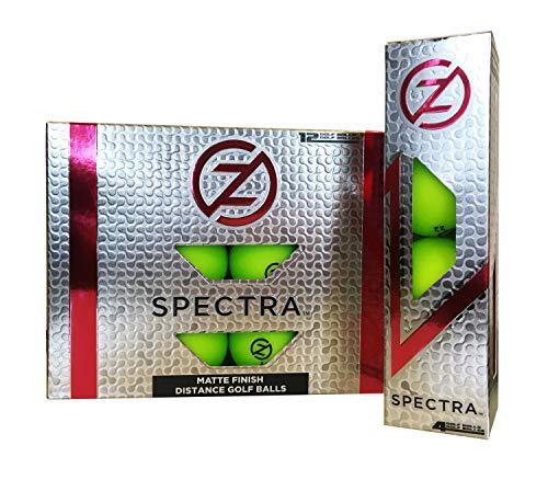 (Zero Friction Spectra Golf Balls, Neon Lime)