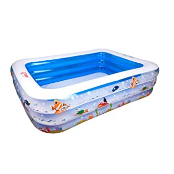 Amazon.com: HQCC - Piscina infantil rectangular hinchable de ...
