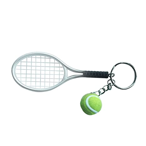 Sharplace Llavero Colgante Anillo Forma de Pelota de Tenis ...