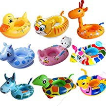 Yofans Inflatable Swim Rings,Infant Inflatable Swimming Pool Bath Aids Neck Ring Safety for Kids 2-6 Year