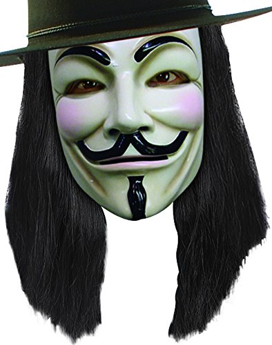 V for Vendetta Wig, Black, One Size