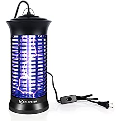 Elivern UV Insect Killer, New Upgrade Bug Zapper & Mosquito Killer Lamp Indoor with Hanging and Switch,Best Stinger for Mosquitoes/Moths/Flies