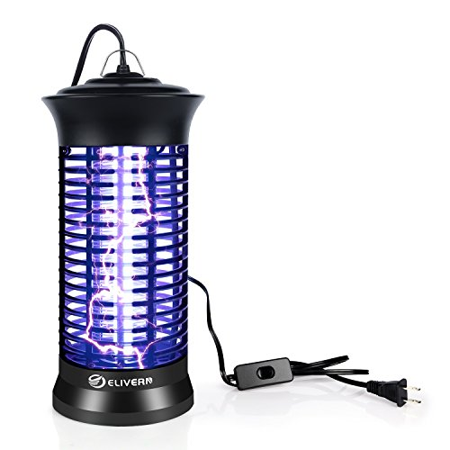 Elivern UV Insect Killer, New Upgrade Bug Zapper & Mosquito Killer Lamp Indoor with Hanging and Switch,Best Stinger for (Bug Zapper Lamps)