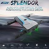 Glumes Mini Foldable Pocket Drone + FPV Goggles - 720P Selfie Headless Mode Self-timer Gravity Sensing 360 degree roll Gift for Adults + Kids  American Warehouse Shipment (black)