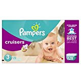 Baby : Pampers Cruisers Diapers Giant Pack, Size 3, 128 Count