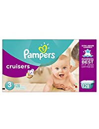 Pampers Cruisers Diapers Giant Pack, Size 3, 128 Count BOBEBE Online Baby Store From New York to Miami and Los Angeles