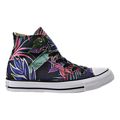Converse Mens Chuck Taylor All Stars Tropical Print Hi Top Multi Canvas Trainers 8 - Converse Print Cap