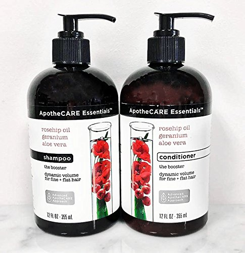 ApotheCare Essentials Rosehip Oil Geranium Aloe Vera (The Booster) Shampoo And Conditioner Set
