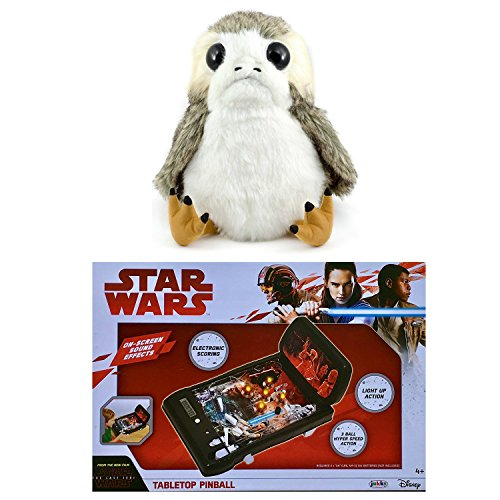 Star Wars The Last Jedi Toys - Life-Sized Interactive Porg Plush and The Last Jedi Tabletop Pinball