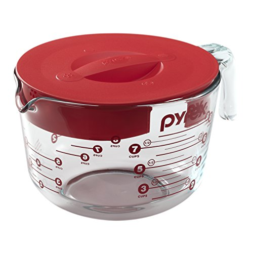 Pyrex Prepware 8-Cup Glass Measuring Cup with Lid (Pyrex Clear Cover Bowl With)