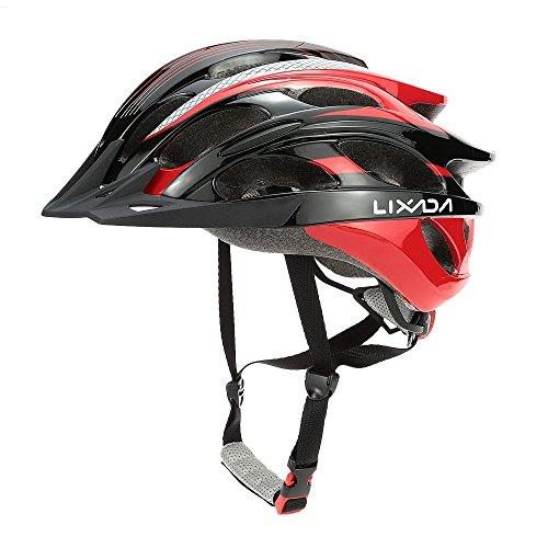 Lixada Bicycle Helmet Mtb/Road Bike Helmets Cycling Mountain Racing, Men Women Keep Safety, Adult Child Kids, with 25 Vents Adjustable Ultralight Integrally-molded -  PDA1432625119208Y0