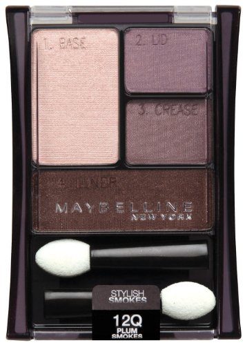 Pack 2 Maybelline New York Expert Wear Eyeshadow Quads, 12q Plum Smokes Stylish Smokes, 0.17 Ounce
