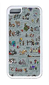 5C Case, iPhone 5C Case Galaxy Pattern Cartoon Cute iPhone 5C Shoockproof White Soft Case Full Body Hybrid Impact Armor Defender Cover protective Case for iPhone 5C