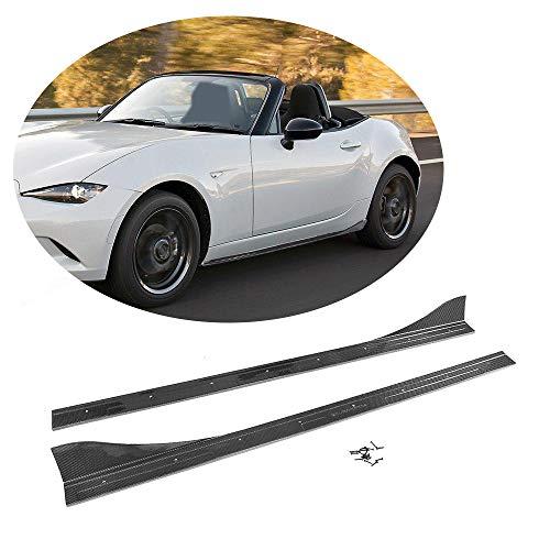 - MCARCAR KIT Side Skirts fits Mazda MX-5 Miata Convertible 2016-2018 Add-on Carbon Fiber CF Under Door Rocker Panels Valance Extension Lip