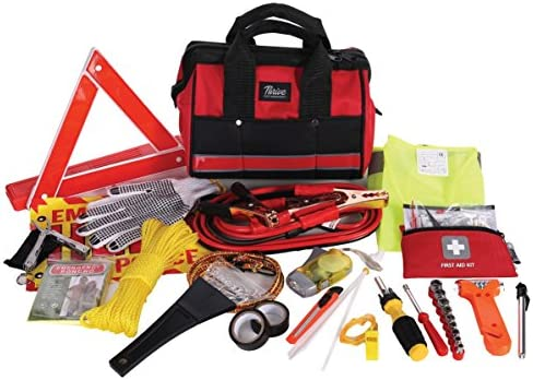 Thrive Roadside Assistance Auto Emergency Kit First Aid Rugged Tool Bag