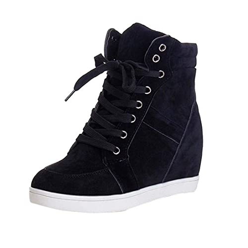 Botas Plano de Mujer con Cordones, QinMM Botines Zapatos clásicos de Martain de Invierno de otoño Sneakers: Amazon.es: Zapatos y complementos