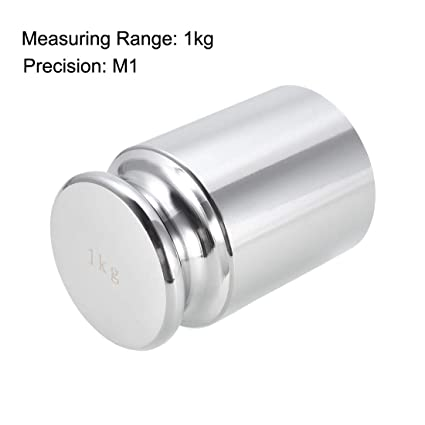 Utoolmart Round Head Calibration Weight Set 1kg M2 Precision Chrome Plated Steel for Digital Balance Scales 1pcs